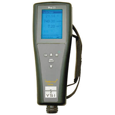 YSI Dissolved Oxygen Meter,0 to 50 mg/L, Pro20