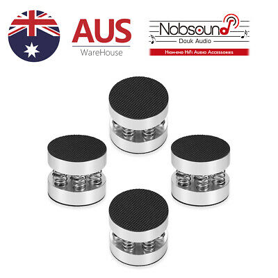 4 Pack Aluminum Spring Amplifier Feet Speaker Isolation Turntable DAC Stand Pads