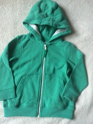 Next Baby Boys Green Hooded Jumper Hoodie Size 12-18 Months Vgc