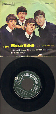 """Beatles-7""""-45-Ps- I Should Have Known Better- Rare Parlophon-Qmsp-Italy-1964 !!"""