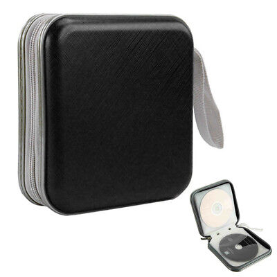 40 Disc Disk Cases Sleeve Holders Storages Portable Plastic Bags BLACK DVD UK