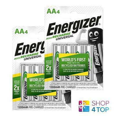 8 ENERGIZER AA HR6 ACCU RECHARGE UNIVERSAL BATTERIES 1.2V 1300mAh NiMH NEW