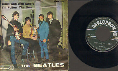"""Beatles-7""""-45-Ps- Rock And Roll Music- Rare Parlophon-Qmsp-Italy-1964 !!"""