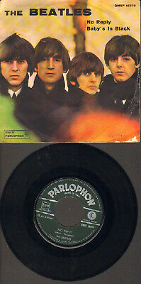 """Beatles-7""""-45-Ps-No Reply/baby`s In Black- Rare Parlophon-Qmsp-Italy-1964 !"""