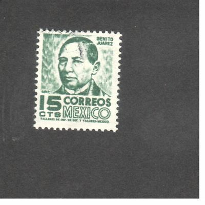 Timbre - Amerique - Mexique - 1951 - Local Images - Benito Juarez