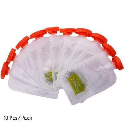 10PCS Fresh Squeezed Pouches Baby Weaning Food Puree Reusable Storage UKOC