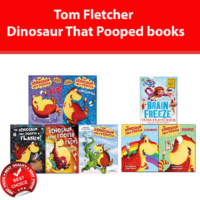 Tom Fletcher books Dinosaur that pooped collection Childrens Humour Pack Set NEW