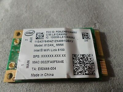Intel Wireless WiFi Link 512AN_MMW PCI Express Mini 802.11abgn Netzwerkkarte