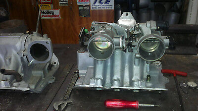 BUICk V6 VN,VP,VR ONLY 1000CFM TWIN THROTTLE BODY MANIFOLD FITS UNDER THE HOOD