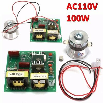 110V 100W 40KHz Ultrasonic Cleaner Power Driver Board + 60W 40Khz Transducer
