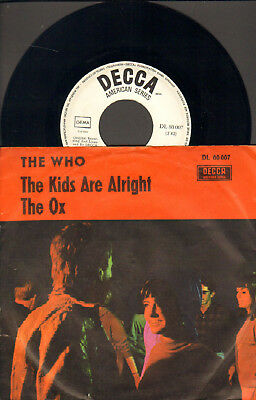"""The Who-7""""-45-Ps- The Kids Are Alright- Decca American-Germany- 1966- Rare !"""