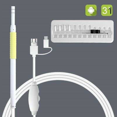 HD 3 in 1 Endoscopio USB per pulizia orecchie 30W Visivo Spoon Otoscopio Earpick