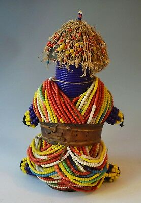 African tribal beaded fertility doll from the Fali of Cameroon