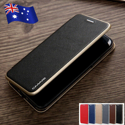 For iPhone Xs Max Xs Xr Magnetic Flip Leather Wallet Case Card Slot Stand Cover