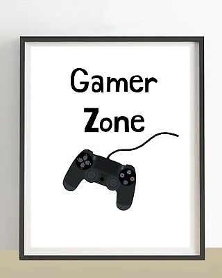 "Teenage Boys Gift 5"" x 7"" Print Gamer Gift Xbox PS4  Bedroom Art Sign NO FRAME"