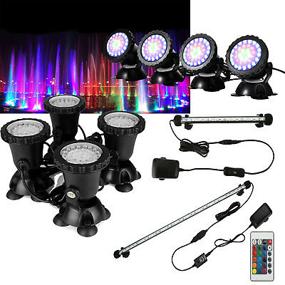 LED Aquarium Lights Underwater Spot Light Submersible Garden Pond Lighting