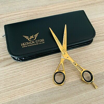 "Professional Barber Hairdressing Salon Scissor 5.5"" GOLDEN Edition Jacky Style"