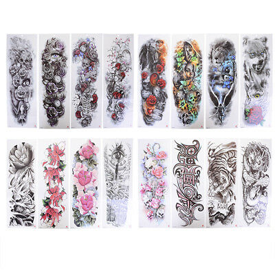 transfer fake flash tattoo arm sleeve men big body art temporary tattooSticker_t