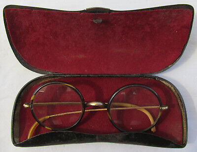 Old Vintage Glasses With Metal Box