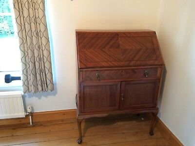 Bureau / Writing Desk In Mahogany With Beuatiful Inlay - Lovely Condition