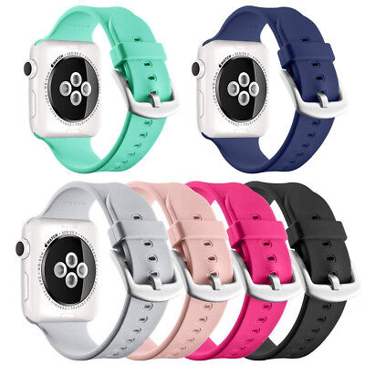 38/40/42/44mm Soft Silicone Band Strap For iWatch Apple Watch Series 4/3/2/1 Hot