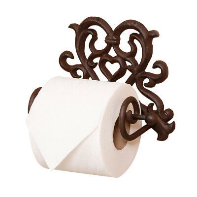 Rustic Vintage Bathroom Wall Mounted Love Heart Iron Toilet Roll Paper Holder