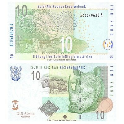 South Africa 10 Rand 2005 P-128b Banknotes UNC