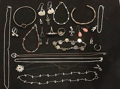 112 Grams Solid Sterling Silver Jewelry Lot Not Scrap