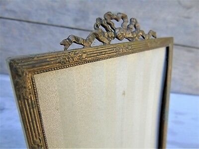 French Antique Vintage Picture Frame Decorative Gilt Tolewear Ribbon Bow Detail