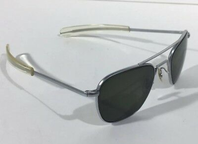 Vintage RE Randolph Engineering Aviator  Frames With RX Lens Matte Chrome