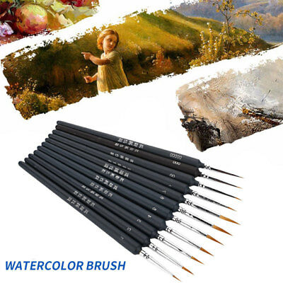 B88D BBFF Portable Scriptliner Solid Wood Oil Painting Children Paint Brush