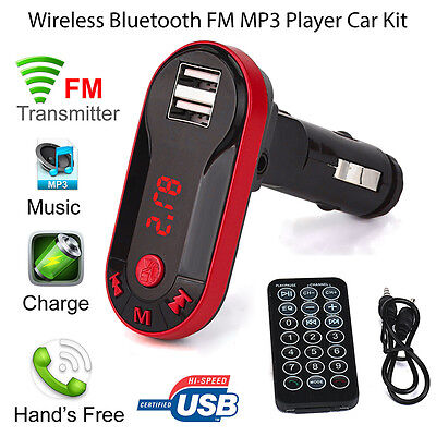 Wireless Bluetooth FM Transmitter Car Kit MP3 Player USB Charger + Remote AU