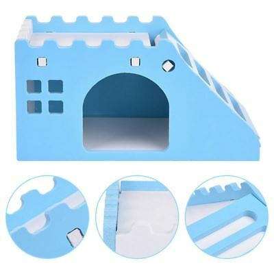 ewing Deck House for Pets hamsters guinea-pig hamster nest with ladder blue H4M6