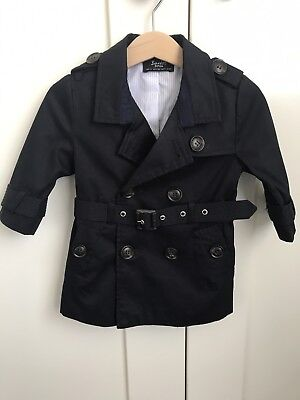 Bardot Junior Baby Boys Navy Trench Size 0
