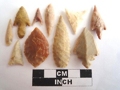 Neolithic Arrowheads x 10, High Quality Selection of Styles - 4000BC - (2127)