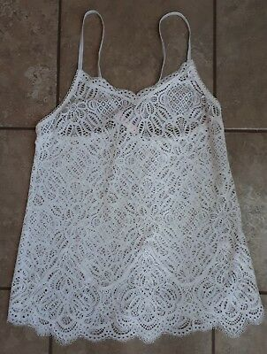 Victoria's Secret Ivory Stretchy Lace Camisole Size Small NWT