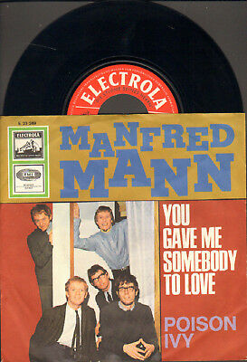 """Manfred Mann-7""""-45-Ps- You Gave Me Somebody To Love- Electrola-Germany-1966"""