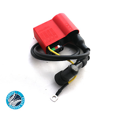 VESPA PX PK T5 Cosa Rally BGM Supercharged Red CDI HT Lead & Spark Plug Cap