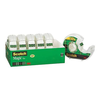 "Scotch Magic Tape with Refillable Dispenser - 3/4"" x 850"" - 6 Rolls New"