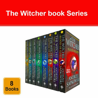 Witcher Series Andrzej Sapkowski Collection 7 Books Set pack Fantasy fiction NEW