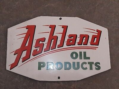 "Porcelain Ashland Enamel Sign SIZE 10"" x 6"" INCHES"