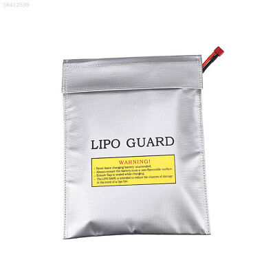 45A8 LiPo Battery Fireproof Safety Bags Double Sided Pouch Sack 23x30CM Silver