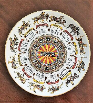 1972 Wedgwood Calendar/Zodiac Plate, 2nd in Series, Animal Carnival, Brochure