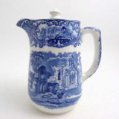 George Jones Blue And White Abbey Pattern Water Jug, 19Th Century