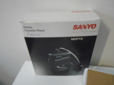 Sanyo Mgp19 (Bk)Stereo Cassette Player - Boxed New Never Used