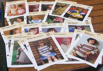 Selection Of 22 Knitting Patterns For Childrens Garments. All Good