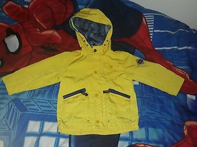 ☆ Boys Ted Baker yellow coat age 2-3 years ☆