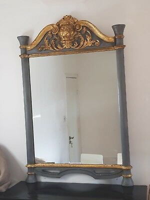 """Old  FRENCH """"EMPIRE"""" GILDED MIRROR 1850 ."""