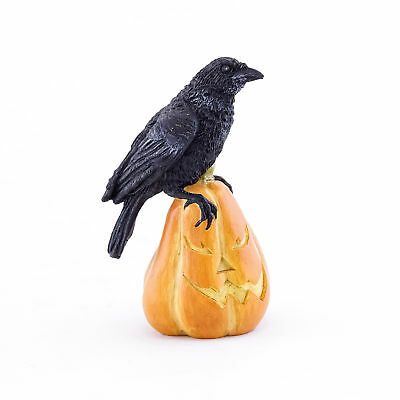 Miniature Dollhouse FAIRY GARDEN - Raven On Jack O' Lantern - Accessories
