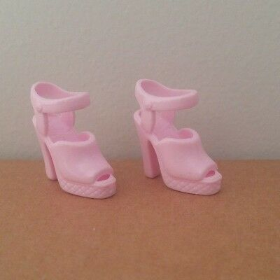 Barbie Doll Light Pink Heeled Strap OT Pumps Shoes Sandal